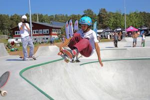 Calle Öjert, 11 år, vann  Betongcupen 2017 i juniorklassen. Han har inget tips på hur man blir bra tyvärr.