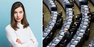 """""""När politiken tas långt bort från människors vardag, som är fallet med EU, behöver besluten vara välgrundade och fattas i god ordning"""", skriver KD-politikern Ella Bohlin. Foto: Pressbild KD/Henrik Montgomery/TT/Montage"""