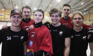 Det unga rödblå gardet; Arvid Kihlström, Matteus Liw, Jesper Granqvist, Hannes Kanbjer, Jonas Söder och Ted Hedell.