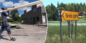 70 nya havsnära bostäder och en marina kan komma att byggas vid Eknäs gård, om länsstyrelsen säger ja till dispens från strandskydd. Foto: TT; Kristina Laitinen