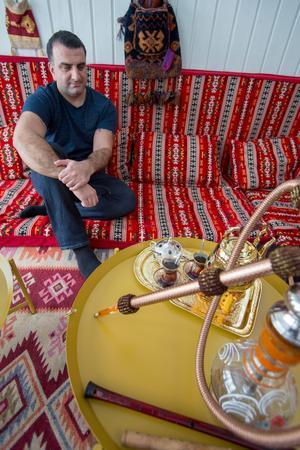 Orientaliska rummet. Textilierna kommer från Istanbul och brickborden är från Ikea.