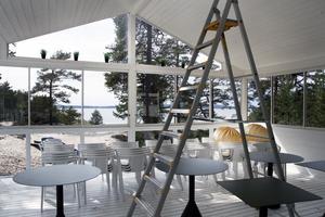 I före detta Storsands veranda öppnar snart den nya restaurangen Sand & Kök.