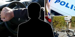 På ett släp hittade polisen en moped som mannen misstänks ha stulit. Bilden är ett montage.