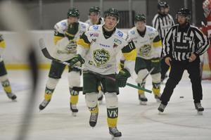 William Eriksson gjorde 1–0 till Björklöven i mötet med Timrå IK.