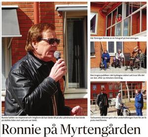 Ronnie Sahlén sjöng gratis på Myrtengården den 11 maj.