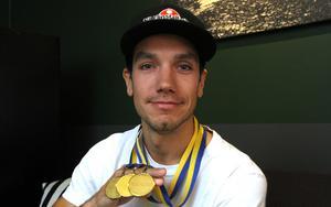 Pontus Aspgren är svensk mästare med Eskilstuna Smederna 2017, 2018 och 2019.