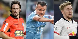 Hallenius, Larsson och Emil Forsberg har fått sina motståndare framlottade i Europaspelet.