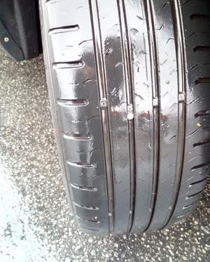 Bilden visar spiken i däcket. /FOTO: Privat