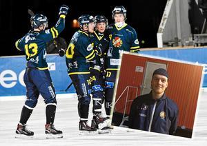 David Jansson blev tremålsskytt för Falun mot Gustavsberg.