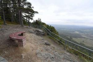 Hykkjebergs reservat med prinsparets bänk.