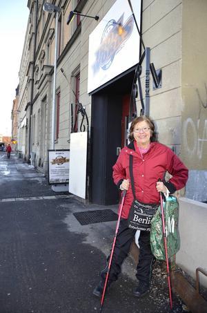 Solveig Cederberg är klar med sitt träningspass på Iron Works.