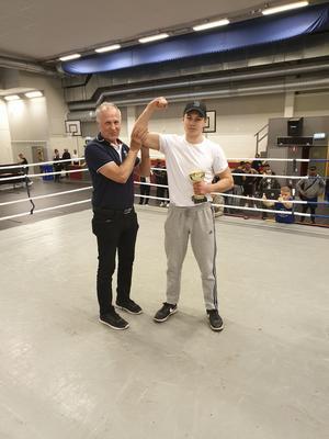 Förbundskapten Lennart Bernström och David Olsson