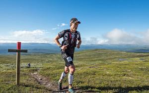 Andreas Svanebo, under ett traillopp.Bild: AXA Fjällmaraton