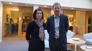 Dalarnas Försäkringsbolag. VD Anders Grånäs och ekonomichef Maria Freiholtz.Foto: Erik Hallstensson