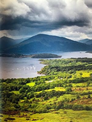 Loch Lomond var ett etappmål under Claes Grundstens vandring på West Highland Way i Skottland. Foto: Claes Grundsten