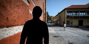 Det var på Vattugränd i centrala Falun som ett stort bråk inträffade i augusti. Nu åtalas en man i 30-årsåldern för grov misshandel.  Foto: Mikael Hellsten/Arkiv