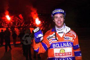 Hans Åström. Bilden är tagen på Sävstaås i november 1999. Foto: Lasse Halvarsson