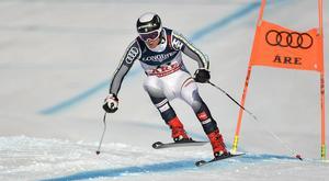 Felix Monsén under kombinationstävlingen vid VM i Åre i vintras. Foto. TT