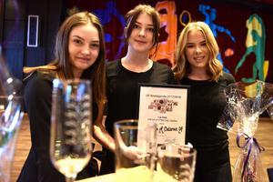 Filippa Eriksson, Malin Eriksson och Linn Johansson fick första priset i den lokala tävlingen.