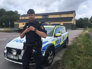 Jonas Lundh, yttre befäl hos polisen.