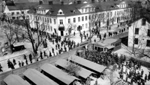 Asea-strömmen på Stora gatan 1917. Foto: ABB:s arkiv
