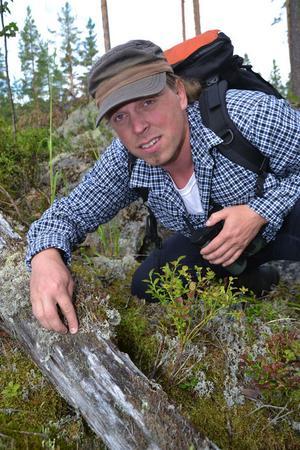 Sebastian Kirppu har medverkat i Naturmorgon i P1 och SVT:s Mitt i naturen och även Sommarpratat i Sveriges Radio. Foto: Börje Lindh.