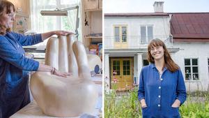Ida Rosén Branzell är relativt ny i Fellingsbro, där hon både bor och skapar.