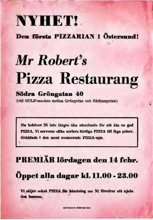 Flygbladet som Robert Schwarz delade ut i Östersund inför premiären i februari 1971.