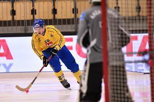 Felix Pherson lämnade isen poänglös mot Kazakstan. Foto: Björn Larsson Rosvall/TT