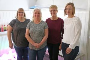 I den pedagogiska omsorgslokalen i Stora Vika arbetar pedagogerna Anna Friberg, Marita Lindblad och Eva Nilsson. Här tillsammans med förskolechefen Anna-Karin Othberg.