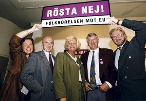 Dåvarande jordbruksminister Margareta Winberg (i mitten) varnade 1994 för det katolska Europa.