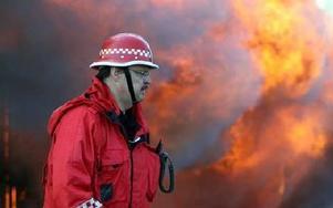 – Nu har vi haft tre storbränder på bara några dygn och det är inte normalt, konstaerar räddningschefen Bosse Lundberg. FOTO:LEIF OLSSON