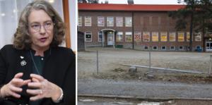 Anna-Britta Åkerlind (C) och Trehörningsjöskolan.