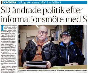 Nya Ludvika Tidning den 28 januari 2015.