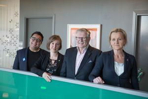 David Winerdal (KD), Hanna Klingborg (MP), Tage Gripenstam (C) och Boel Godner (S) har bildat ny majoritet i Södertäljepolitiken.