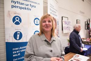Maria Ahlmark från Stockholms länssjukvårdsområde, var där för att prata onlinetjänster inom vården.