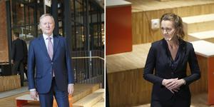 Leif Östling och Boel Godner sitter båda i styrelsen för Södertälje science park. Bilderna är från invigningen 2018.