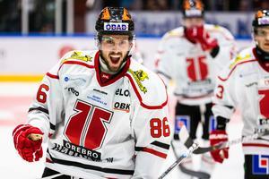 Mathias Bromé som vi är vana att se honom, på isen. Bild: Johan Bernström/Bildbyrån