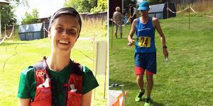 Vinnare i maratonloppet längs Bruksleden blev Elin Tengbert och Andreas McConville på tiden 4:03:46 respektive 3:02:39. Foto: Mats Thunwall
