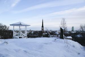 På fredagen hade Västerås klätts i vitt.