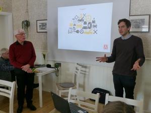 Carl-Erik Stjernvall från Motormännen i Stockholm tog upp den aktuella frågan om drivmedel för fordon.Foto: Privat