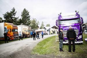 Totalt besökte omkring 10 000 personer Lastbilsträffen under helgen.