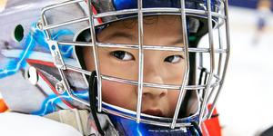 Sun JingXuan gillade hockeyträningen och att få uppleva den svenska vintern.