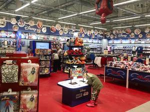 Bild på en Disneyavdelning från en annan Eko-butik. Foto: Johan Tallberg