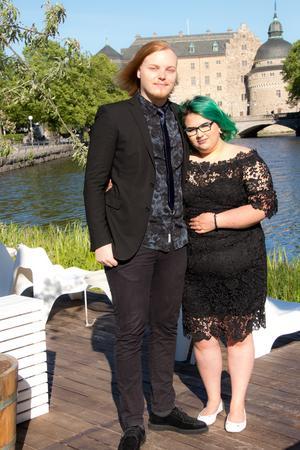 Robin Brandt och Gabriella Martinez Larson som går på Rytmus, ESM16.