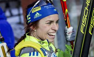 Elisabeth Högberg var helt överlägsen i damernas sprinttävling. Östersundsåkaren vann med över minuten före klubbkompisen Felicia Lindqvist. Foto: TT