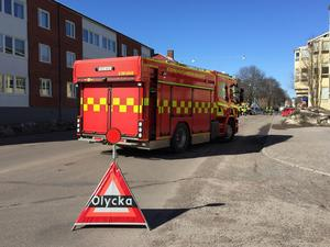 Trafikolycka i korsningen Saresgatan/Hagavägen i Borlänge.