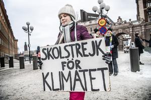 Foto: Foto: Tomas Oneborg / SvD / TT / Greta Thunberg, som startade Skolstrejk för klimatet.