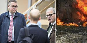 MB Skog Edsbyn advokat Rolf Klintfors och Stora Enso AB:s advokat Tomas Nilsson. Foto: Tony Persson och Alexandra Sannemalm