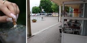 Trädäcket uteblir i år och därmed uteserveringen. Foto: Fredrik Sandberg/SCANPIX